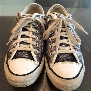 Converse sneakers made with sequins
